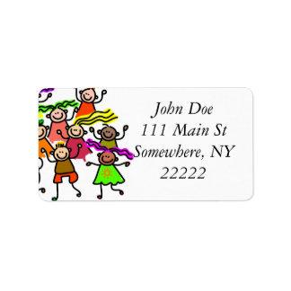 One Race: Human Address Label