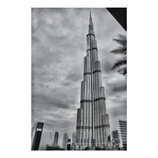 One Rainy day at Burj Khalifa Poster