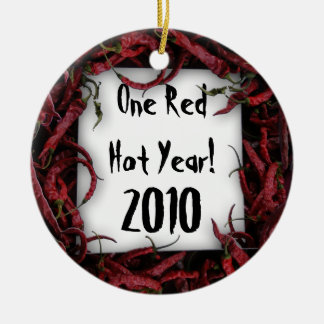 One Red Hot Year! Customizable Ceramic Ornament