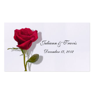 One Red Rose Place Card Pack Of Standard Business Cards