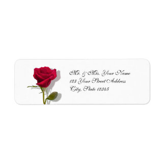 One Red Rose Return Address Label