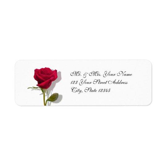 One Red Rose Return Address Label