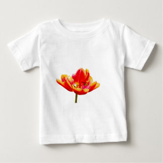 One red tulip flower on white background baby T-Shirt