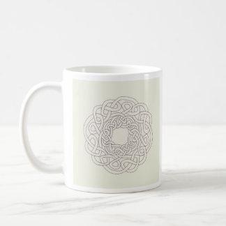 one ribbon celtic knot basic white mug
