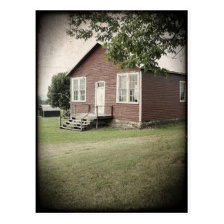 One Room School House Postcard