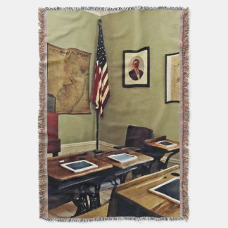 One Room Schoolhouse In New Jersey Throw Blanket