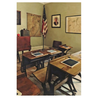 One Room Schoolhouse in New Jersey Wood Poster