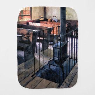 One Room Schoolhouse With Stove Burp Cloth