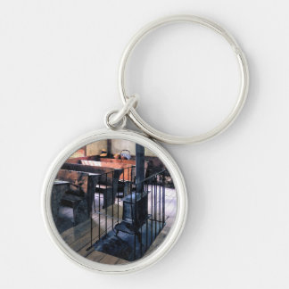 One Room Schoolhouse With Stove Key Ring