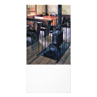 One Room Schoolhouse With Stove Photo Greeting Card