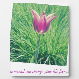 one second can change your life forever photo plaque