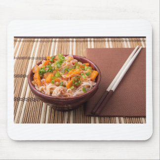 One serving of rice vermicelli hu-teu mouse pad