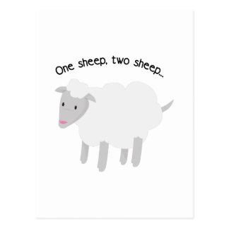 One Sheep, Two Sheep... Postcard