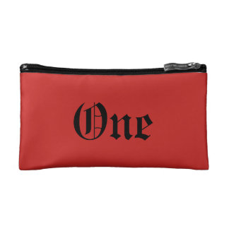 One Small Cosmetic Bag Red & White