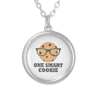 One Smart Cookie Silver Plated Necklace