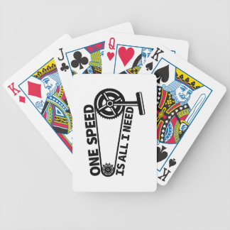 One Speed Is All I Need, single speed fixie Poker Deck