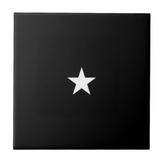 One Star Dark Small Square Tile