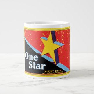One Star Murphy Ranch Vintage Crate Label Jumbo Mug