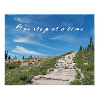 One Step at a Time Inspirational Poster