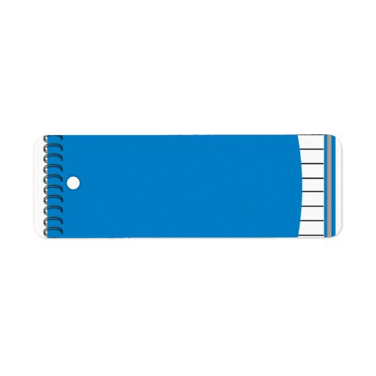 one subject notebook graphic return address label