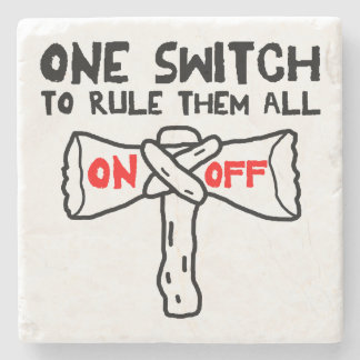 One Switch To Rule Them All Stone Coaster