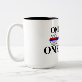 One Team One Fight Two-Tone Coffee Mug