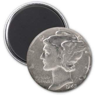 One Thin Dime 6 Cm Round Magnet
