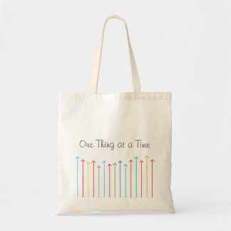 ONE THING AT A TIME Tote bag
