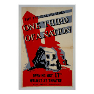 One Third Of A Nation Vintage Poster