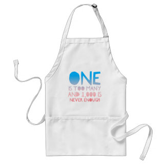 One Too Many Funny AA Recovery Alcoholic Shirt Standard Apron