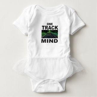 one track mind fun baby bodysuit