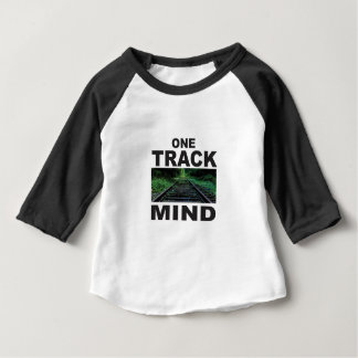 one track mind fun baby T-Shirt