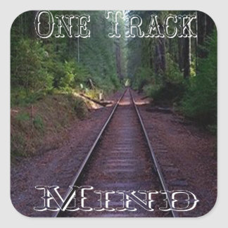 One Track Mind Sticker