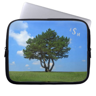 One Tree Full of Life, a Blue Sky & White Clouds Laptop Sleeve