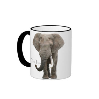 One Tusk Elephant Ringer Mug