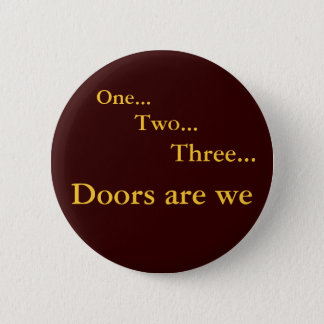 One Two Three 6 Cm Round Badge