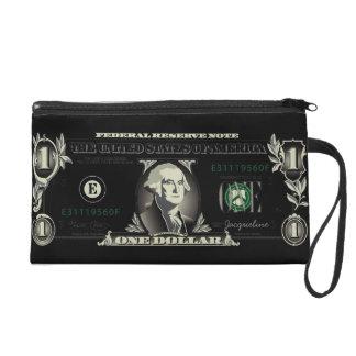 One US Dollar Bill Baggetes Bag