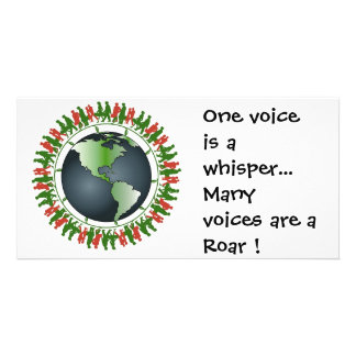 One voice is a whisper... picture card