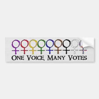 One Voice, Many Votes Bumper Sticker