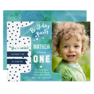 1st birthday invitations zazzle one watercolor birthday party invitation filmwisefo