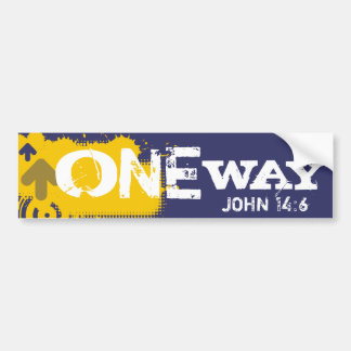 One Way Bumper Sticker