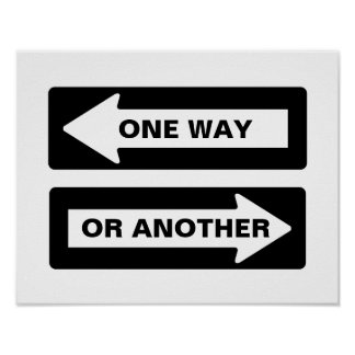 One Way or Another Street Sign Poster
