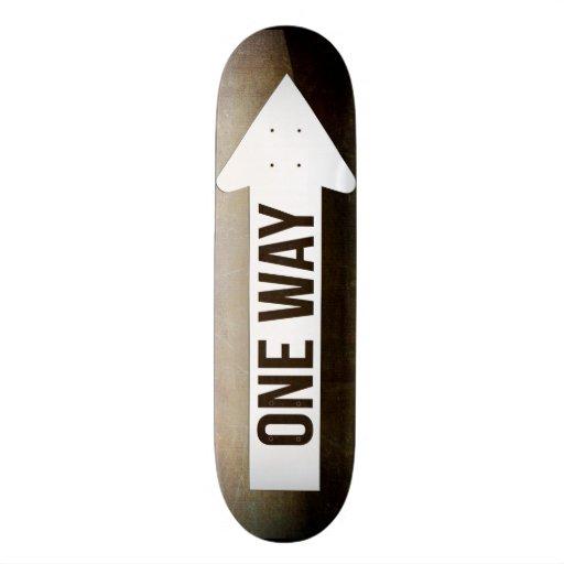One Way Sign Skateboard Deck Skate Decks