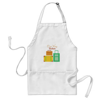 One Way Ticket Adult Apron
