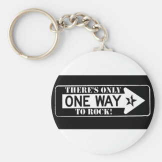 one way to rock keychain