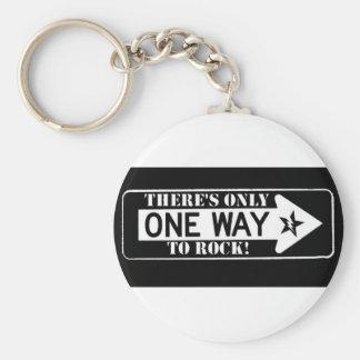 one way to rock keychain