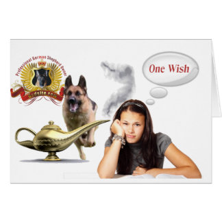 One Wish - German Shepherd Card