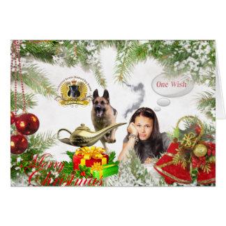One Wish - German Shepherd Christmas Card
