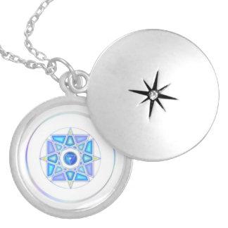 One With Water Elemental Mandala Locket