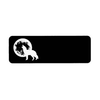 One Wolf Moon Return Address Label